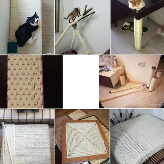 Pet Cats Sisal Rope Scratching Post Toys Diy Cat Scratch Board To Exercise Claw