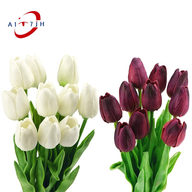 20 Stems Of Tulip Artificial Flowers Bouquet Perfect For Wedding Bridal Party Home Holidays Garden Birthday Offi Shopee Singapore
