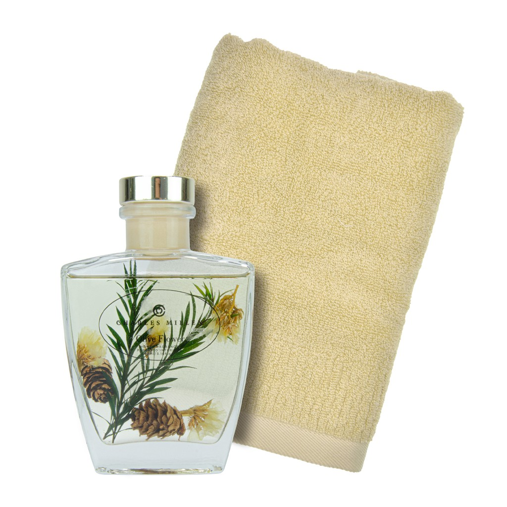 Charles Millen Signature Collection Olive Flower Artemisia Hand Towel Diffuser Gift Set Shopee Singapore