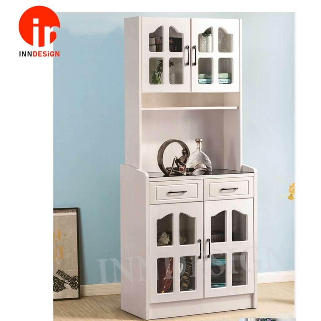 Victoria Display Cabinet Bookshelf With Glass Top Storage Cabinet Free Delivery And Installation Shopee Singapore