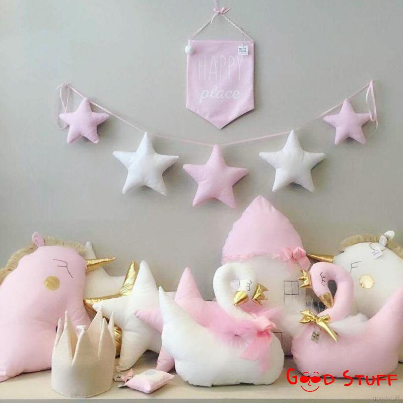 New Nordic Baby Handmade Nursery Star Garlands Kids Room Wall Decorations Shopee Singapore