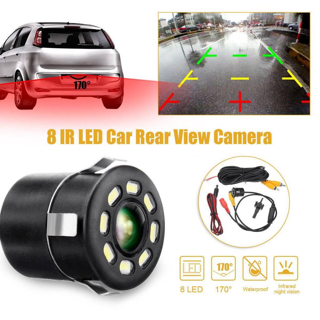 IP67 Waterproof 12V Car Reverse 18.5mm 8LED Light Night Vision Camera Belt Drill