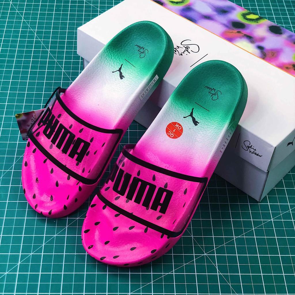 5cf89134673 Puma x Sophia Webster Transparent Watermelon Slippers