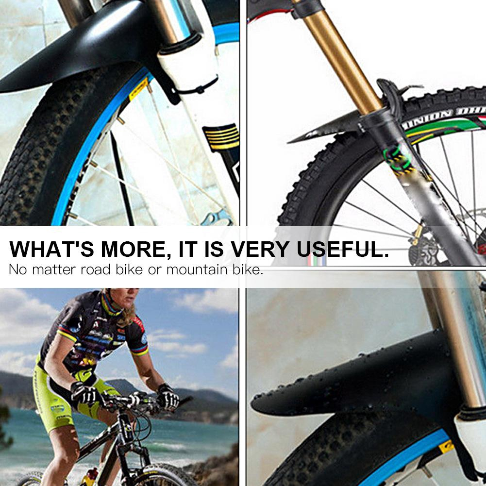 MTB Bike Front Fork Fender Mudguard Set Mountain Bicycle Road Cycling Tool #