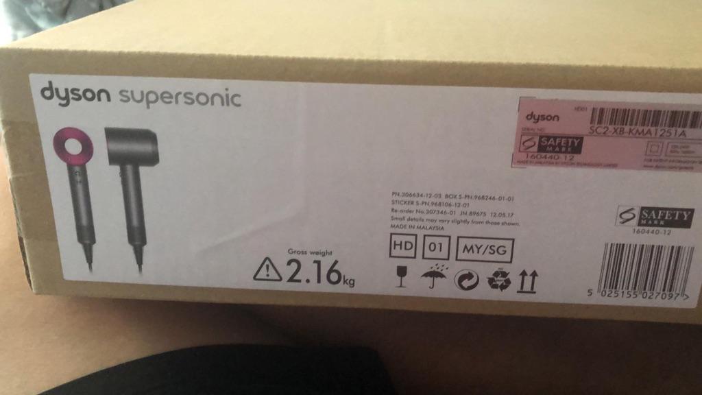 Dyson Supersonic HD01 Hair Dryer-Iron/Fuschia | Shopee Singapore