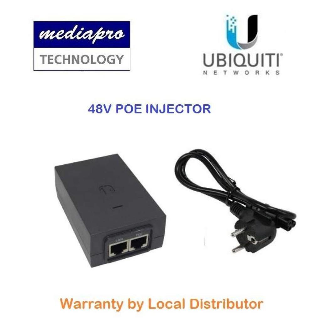 UbiQuiti 48v PoE Injector ( Use for UAP-AC-PRO-E ) - Local Agent Warranty  (Bulk)