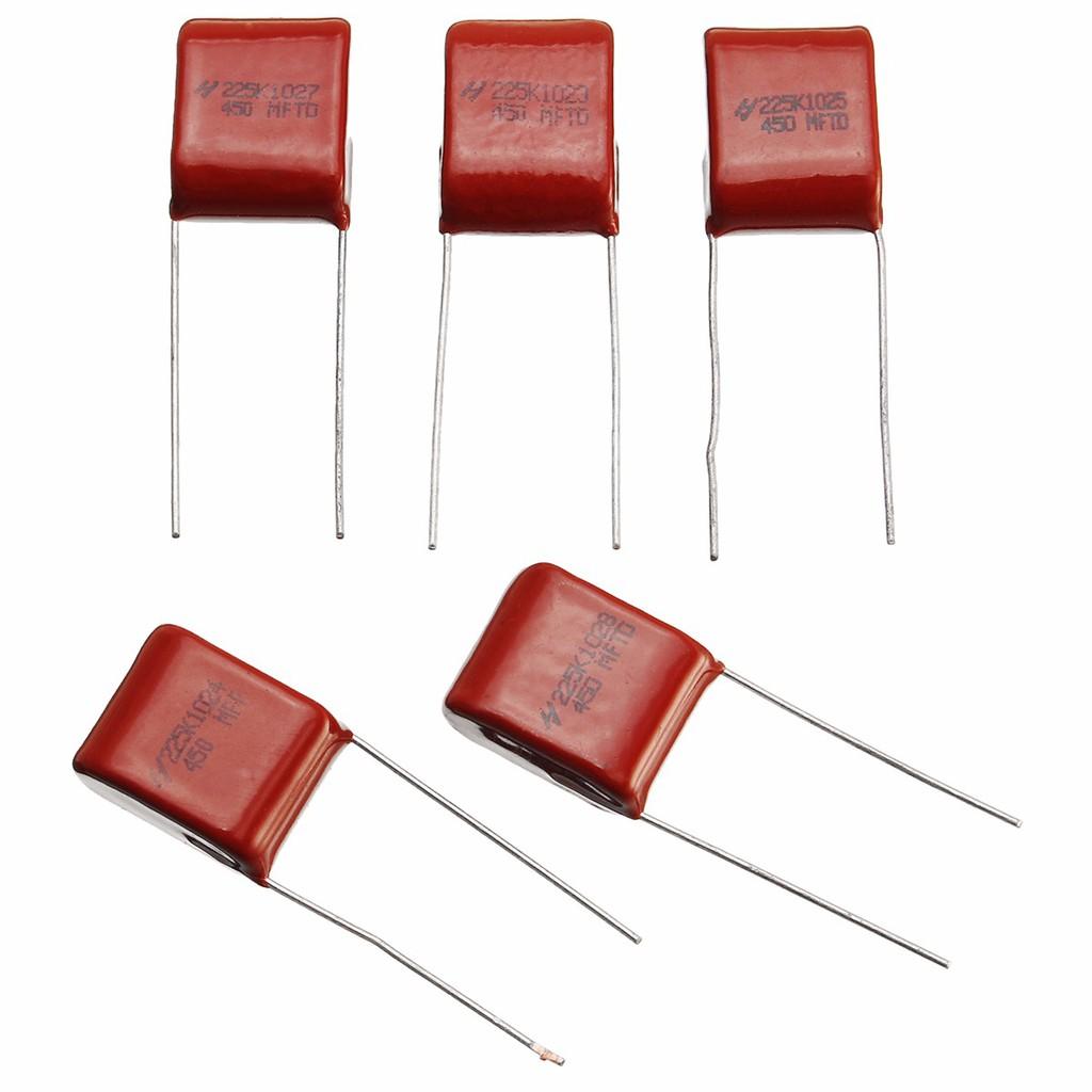 400V 0.01uf~4.7uf 24 values 204pcs CBB metal film capacitors Assortment Kit