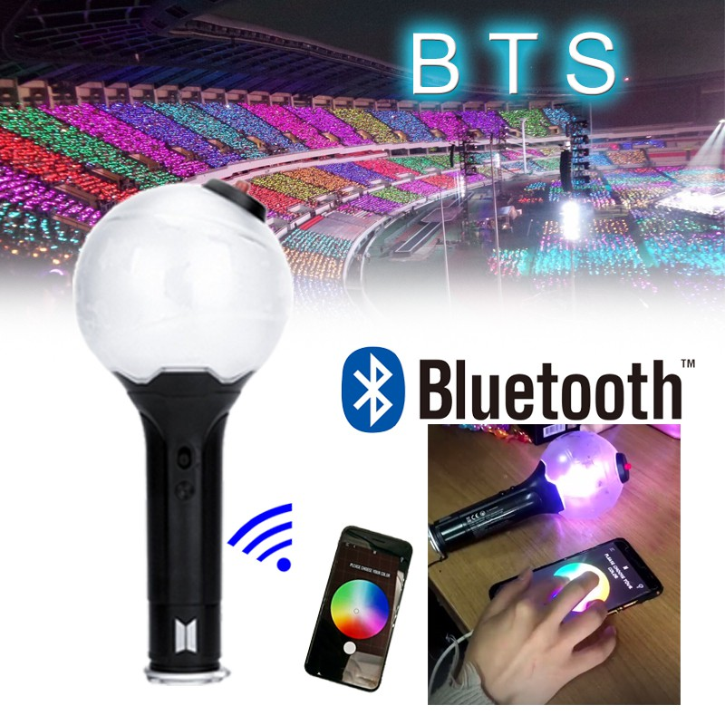 Objective In Stock Led Kpop Exo Ver.3 Stick Lamp Official Bluetooth Concert Lamp Hiphop Light Stick Fans Collection Lightstick Fluorescent Led Lamps