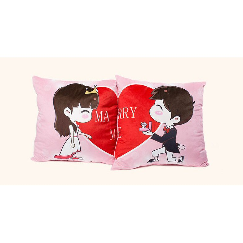 Couple Gift Wedding Proposal Couple Pillow Cushion Pillow Marry Me Shopee Singapore