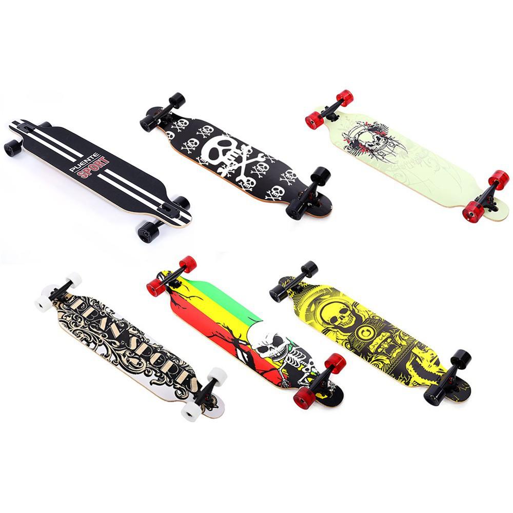 PUENTE Silent Long Skateboard Roller Scooter Entertainment Sport Kit