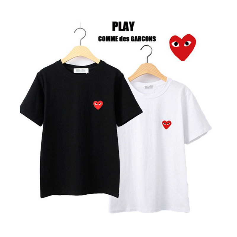 Los Angeles a4d7d 3f401 New Men's Women's Comme Des Garcons CDG Play Red Heart Short Sleeve T-shirts