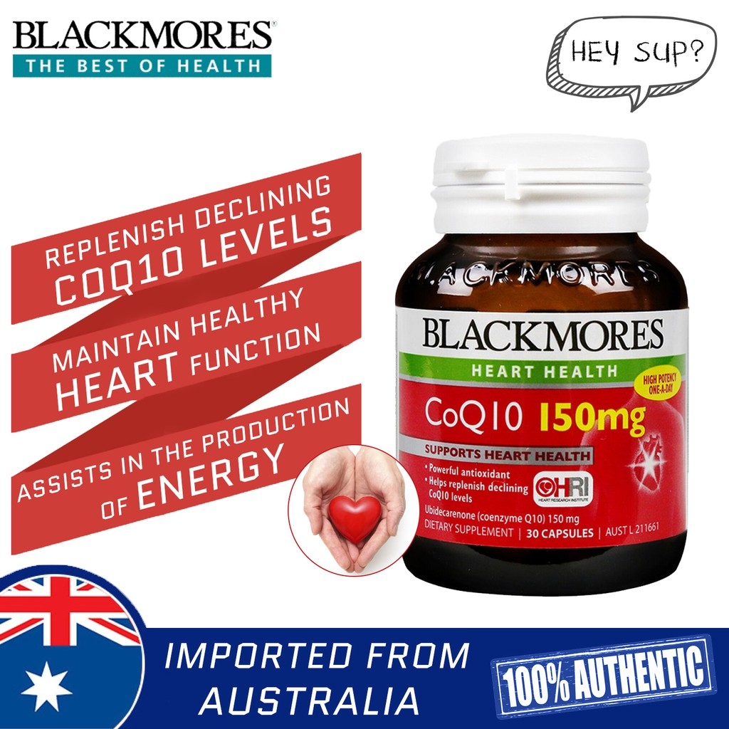 Blackmores Coq10 150mg 30 Capsules Support Heart Health Shopee 75mg Singapore