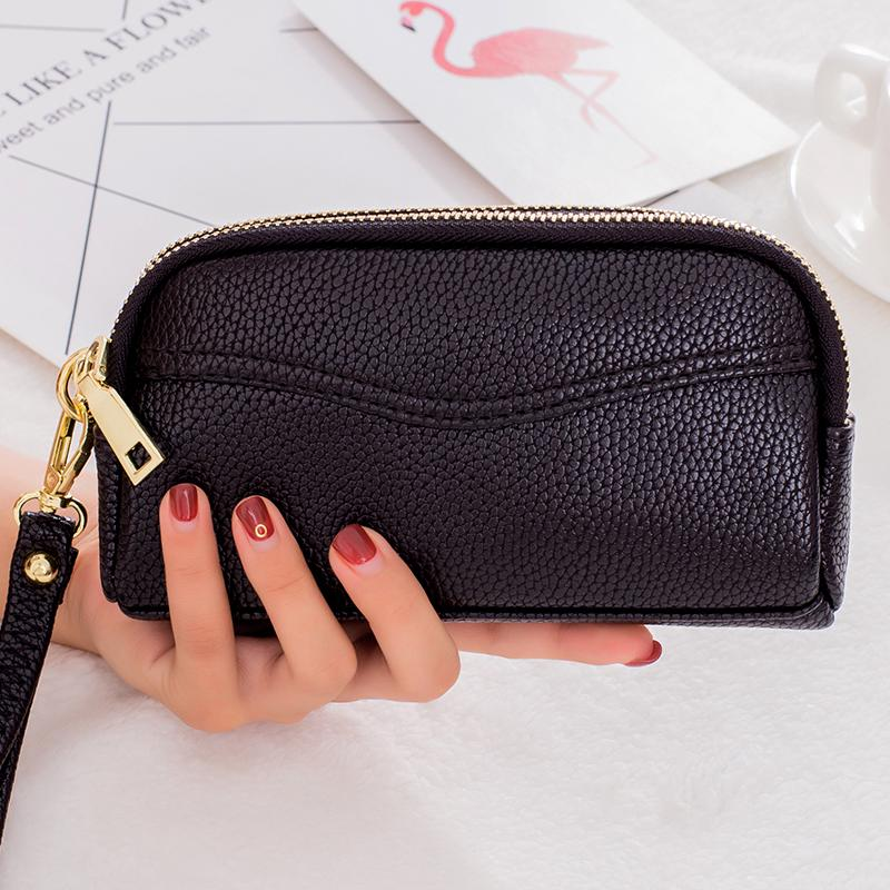 ◘2019 new Double Zipper handbag women's fashion small