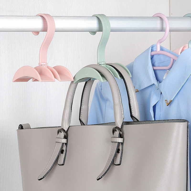 Handbag 360-degree Rotation Hanging Rack / Plastic Double Hook Hanger For  Organize Bags / Closet Organize Hanger For Storage Women's Bags | Shopee  Singapore