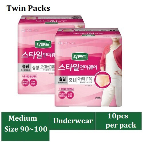 5ea Pack of Urinary Incontinence Cotton Washable Women Korean Underwear Details about  /3ea