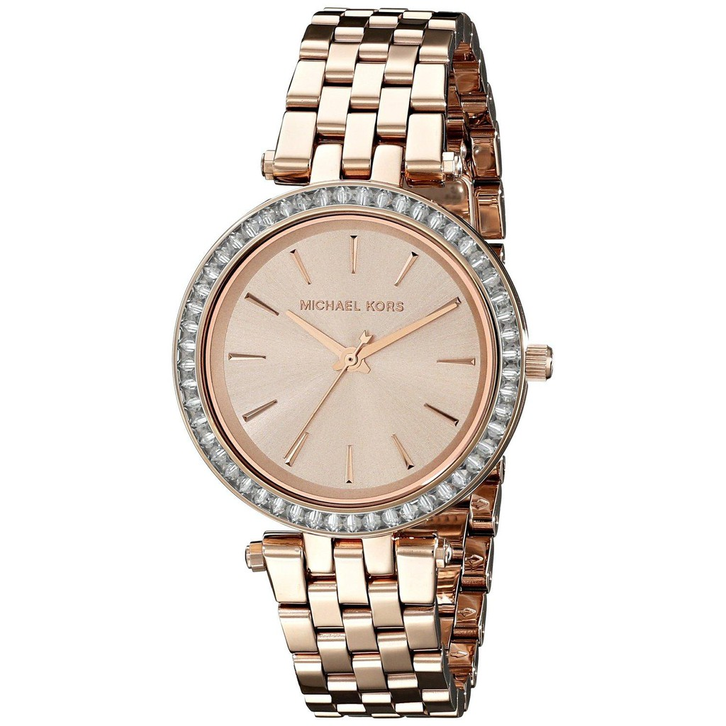 ff2e74f8f360 Original MK MICHAEL KORS MK3192 Darci Rose Gold Dial Pave Bezel Ladies Watch