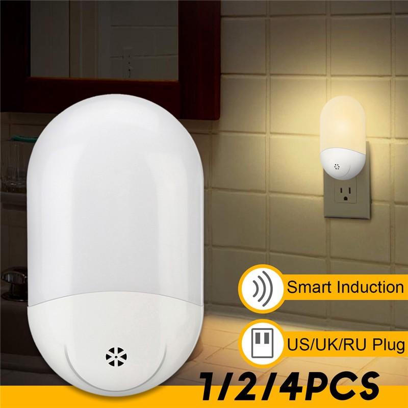 Hot Led Pir Motion Sensor Night Light Bathroom Lamp Lighting