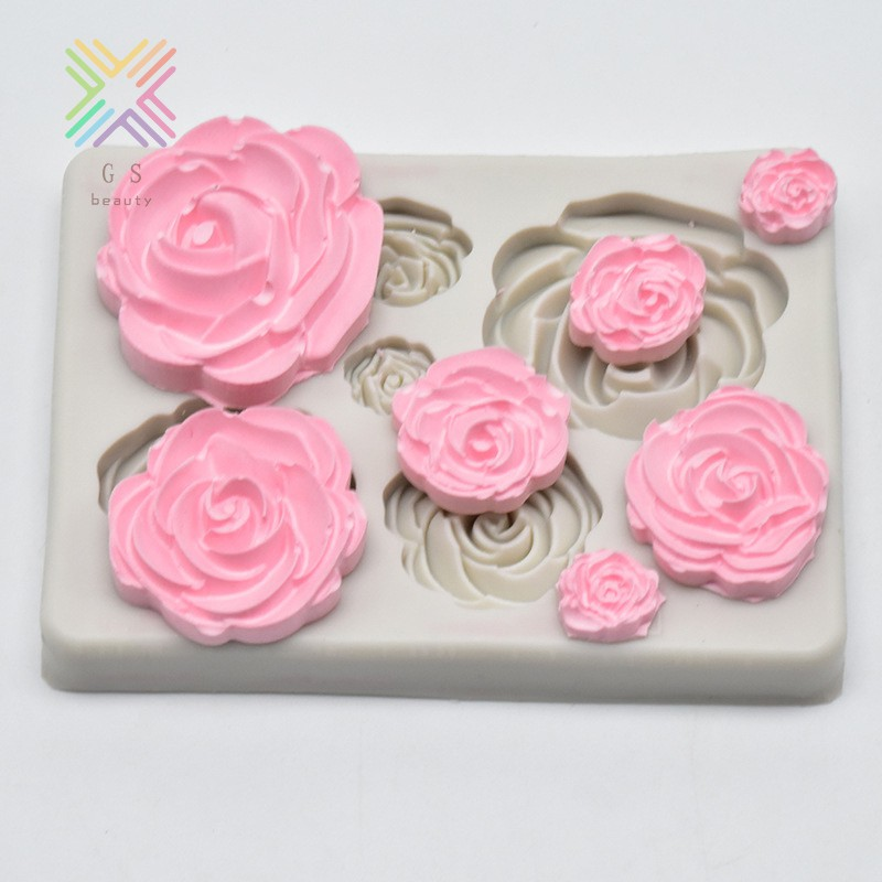 Flower Petal Silicone Fondant Cake Chocolate Decorating Baking Mould Mold GS