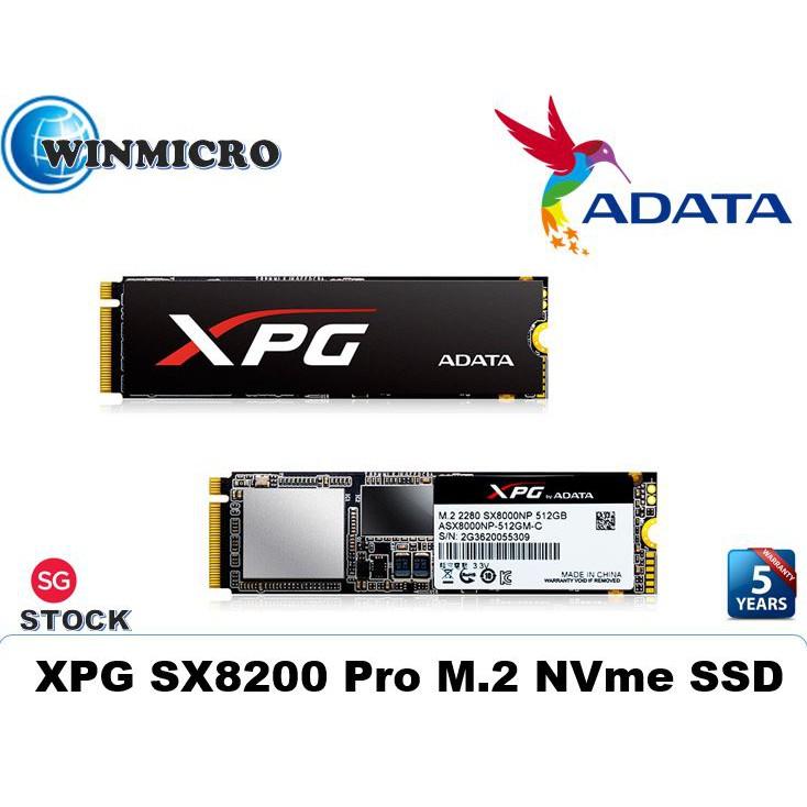 Adata XPG SX8200 Pro PCIe Gen3x4 (NVMe) SSD Harddrive