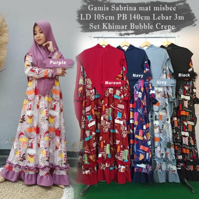 Gamis Misbee Sabrina Set Hijab Khimar Busui Shopee Singapore