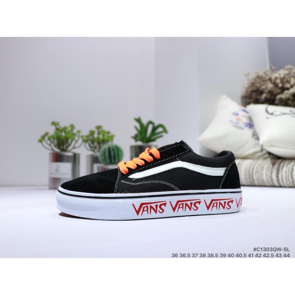 3ce6ecc623d12f Vans Old Skool x off-white classic casual shoes vans women s shoes ...
