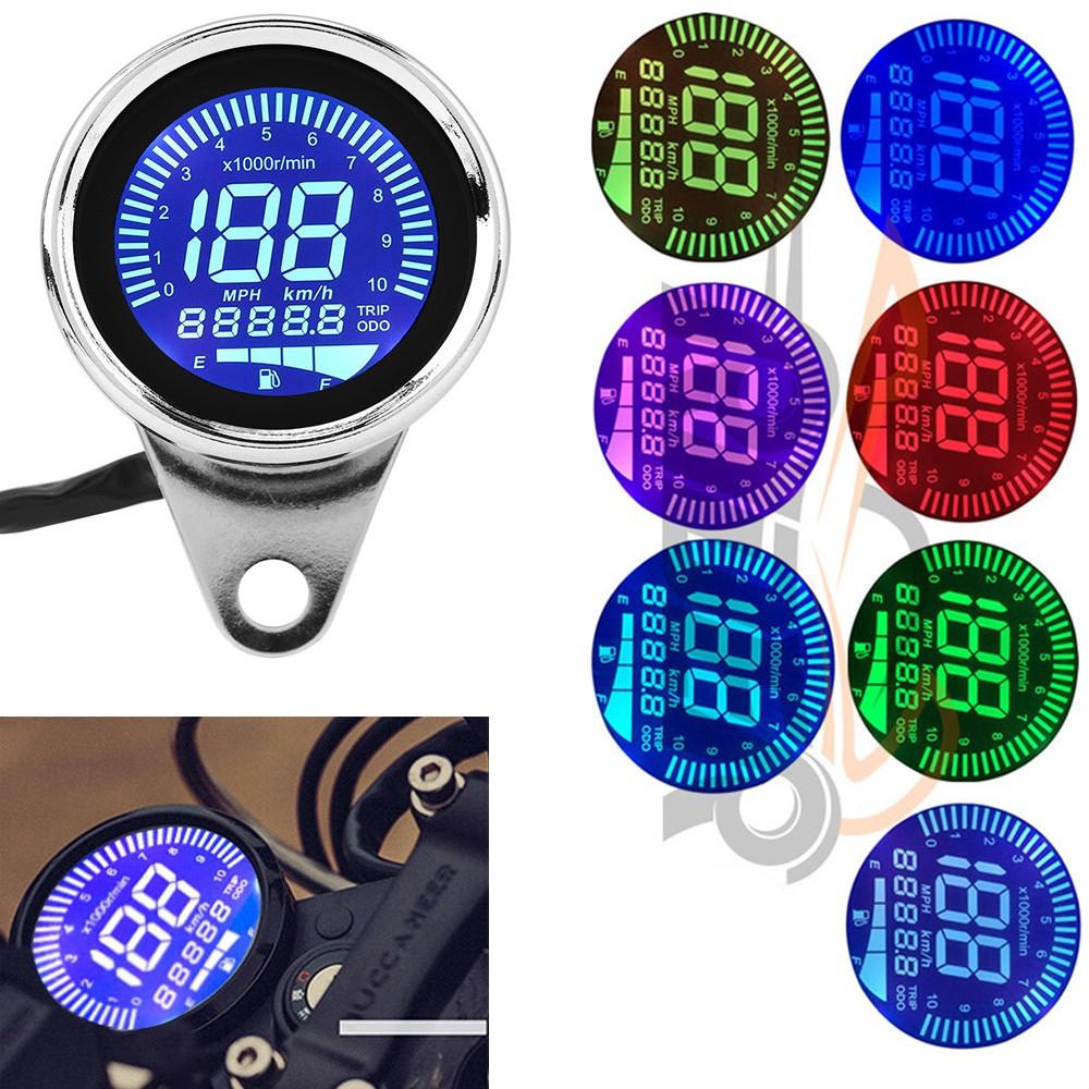 Universal 7 Colors Motorbike Instrument Display Oil Level