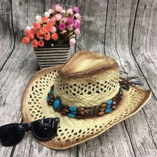 ceb4891f75e Straw Cowboy Panama Sun Hat Women Men Wide Brim Outdoor Cap Fashion Travel  Summer Beach Hat