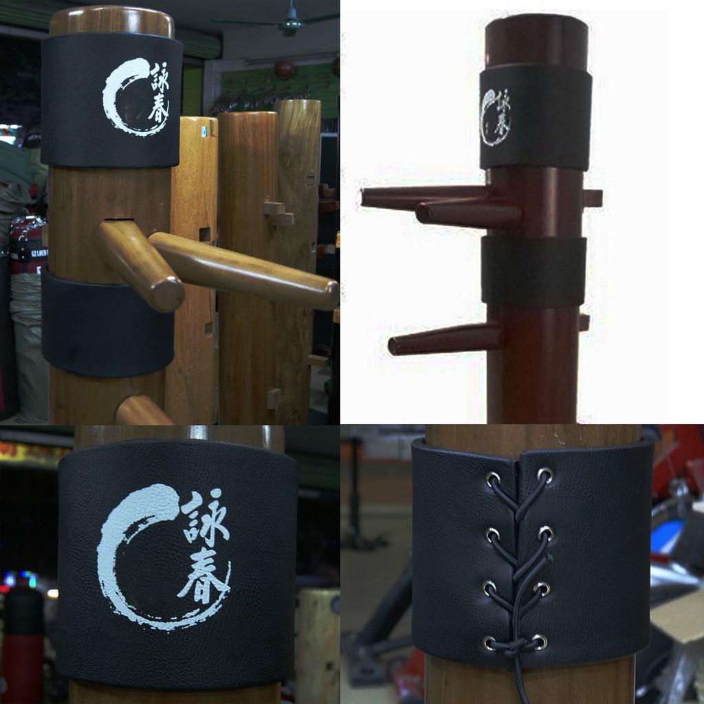 2PCS Wing Chun Kung Fu Pads Ip Man Wing Stun Wooden Dummy Head Protect Pads