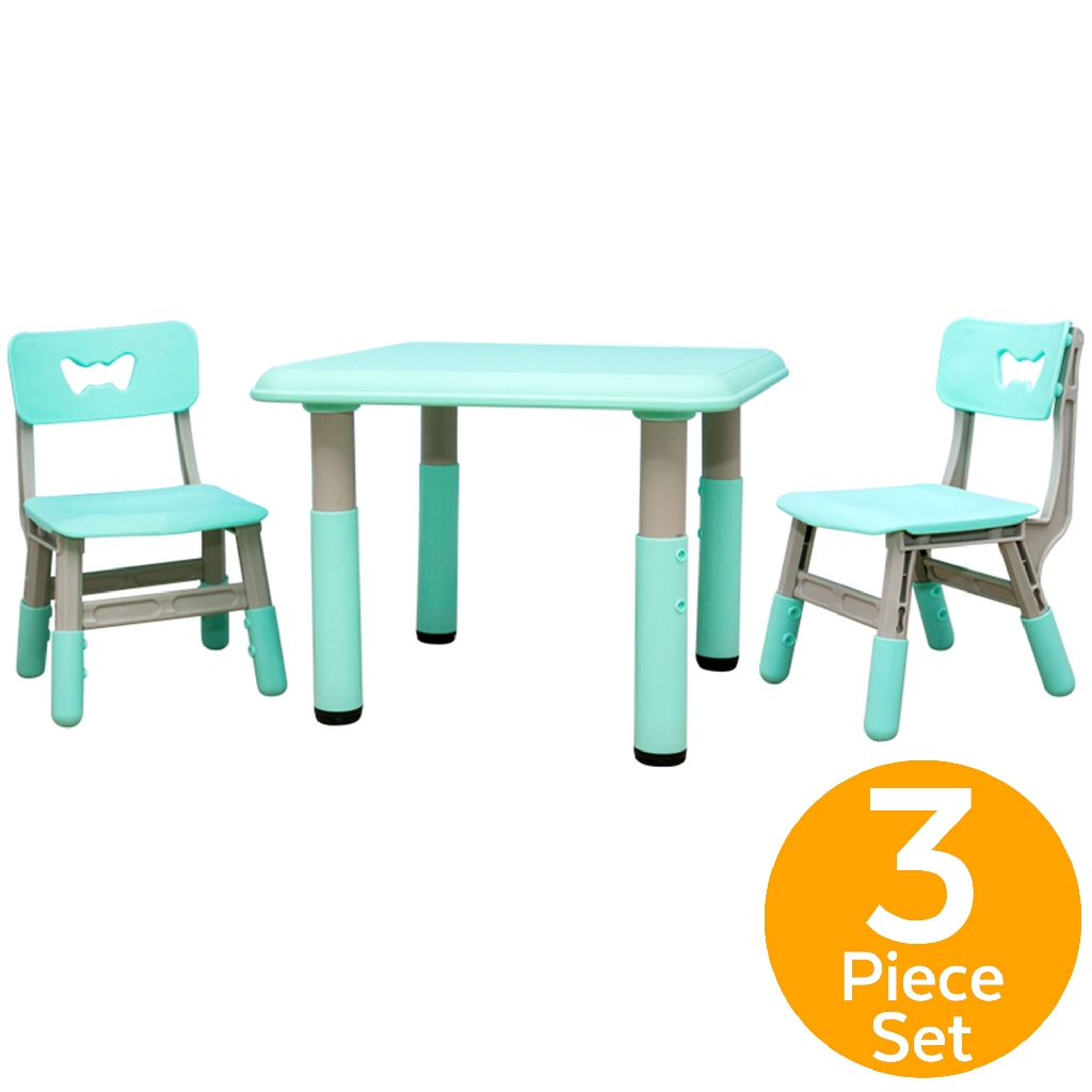 Kids Table and Chair Set,Plastic Multi-Colour Detachable Table Seat Learning Desk Light-weight Childrens Alphabet Table and Chair Set Bedroom Play Room Table Chair for Toddlers Childs Learning Dining