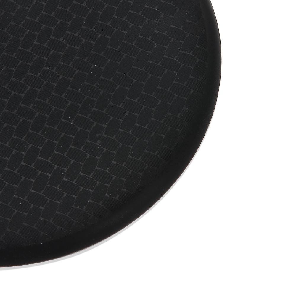 2x//set Black Car Auto Non-Slip Water Cup Slot Carbon Fiber Look Mat Accessories