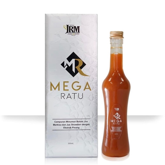 JRM Mega Ratu 300ml MEGA RATU BY JAMU RATU MALAYA  botanical drink formulated with Jus Markisa, Jus Stawberry, Pinang Extract specially for women's' health. Suitable for women: per-menopause, menopause and post menopause. Helps to balance the hormone