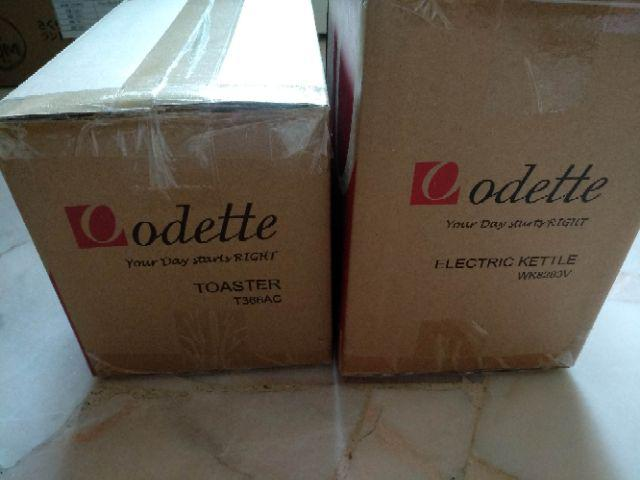 Odette T366ac Pastel Toaster And 1 7l Immerse Kettle Set