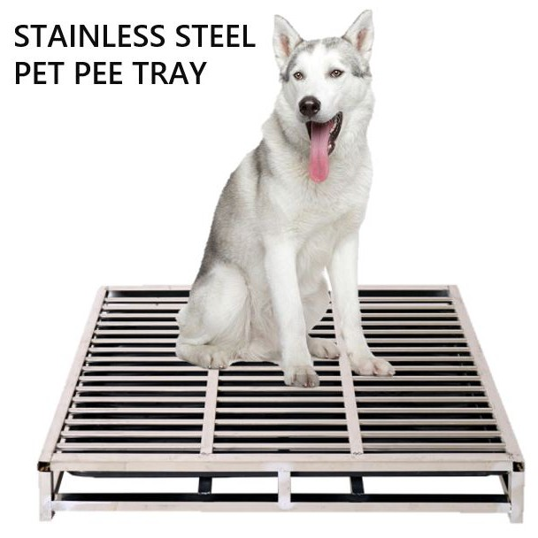 Pet Tray Stainless Steel With Base, Large Dog Furniture