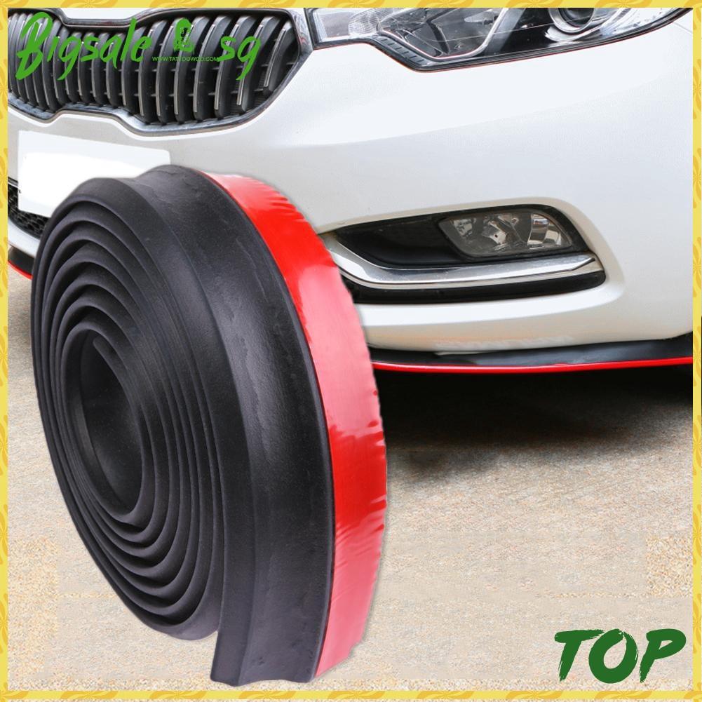 2.5M Universal Car Front Bumper Lip Splitter Body Side Spoiler Protector Rubber