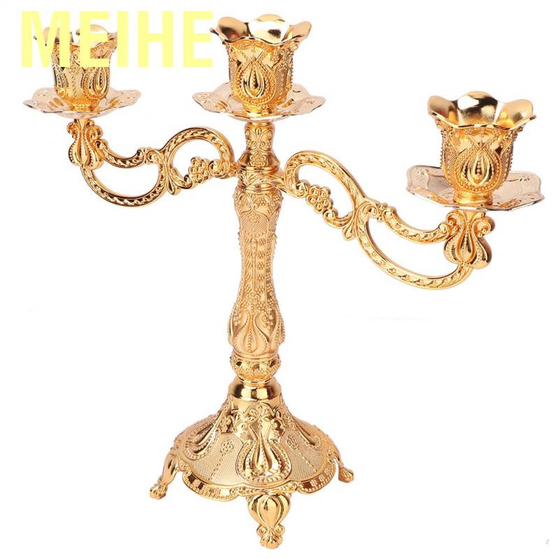 Meihe Metal Candlestick Candelabra Candle Holder European Style Classic For Wedding Dinner Party Decoration Home Decor Shopee Singapore