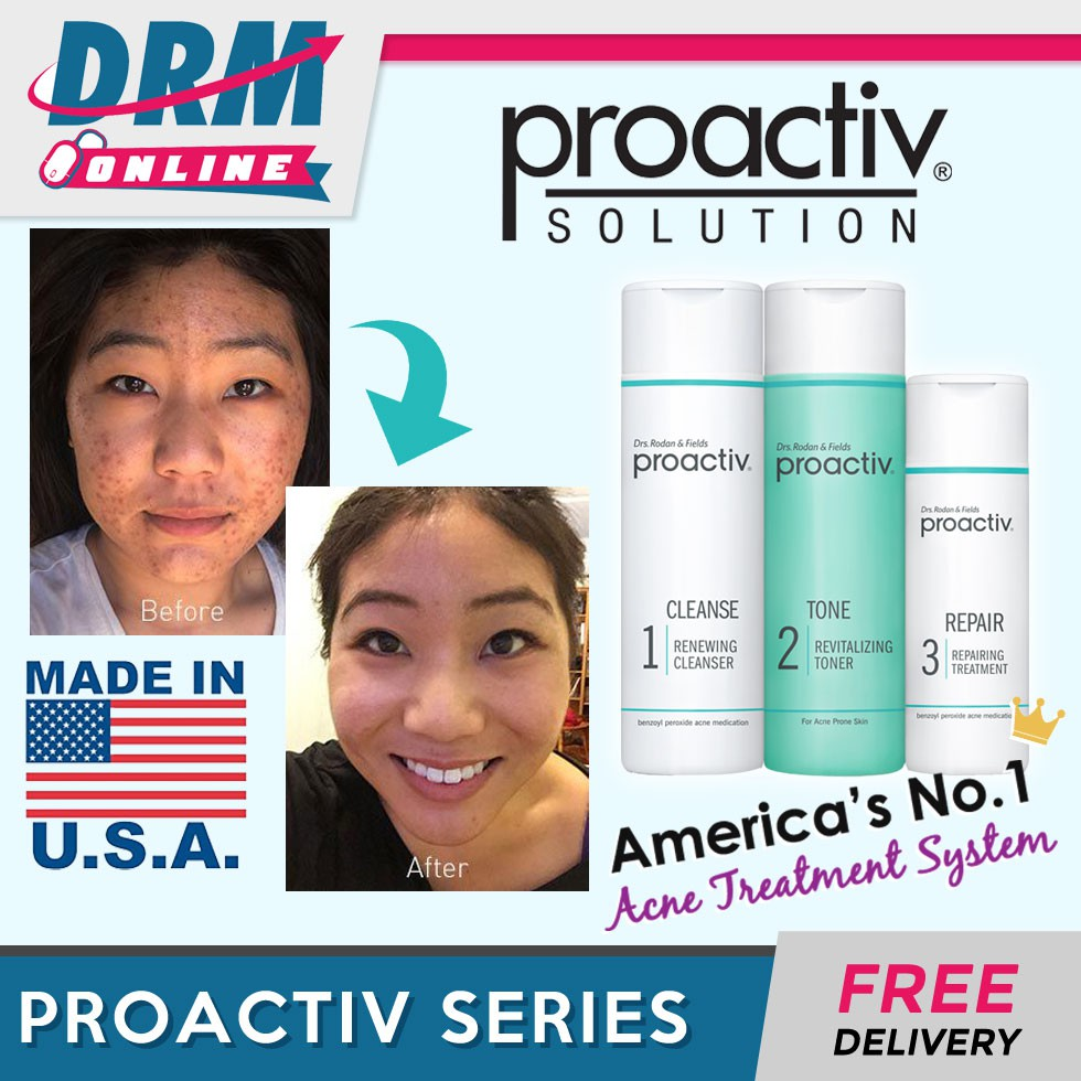 Drm Online Proactiv Solution 3 Step America No 1 Acne Treatment System Shopee Singapore