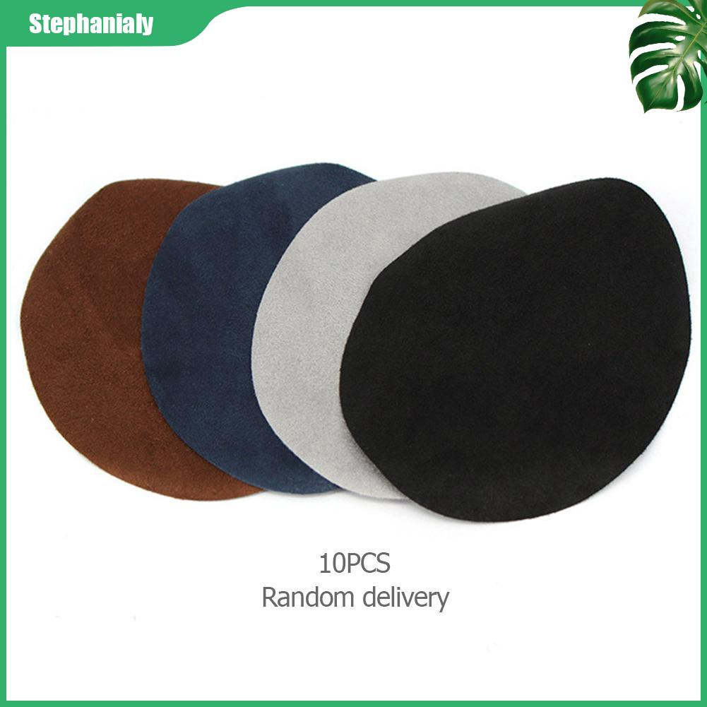 10pcs Oval Pu Leather Patch Hand Stitching Sofa Repairing Fabric