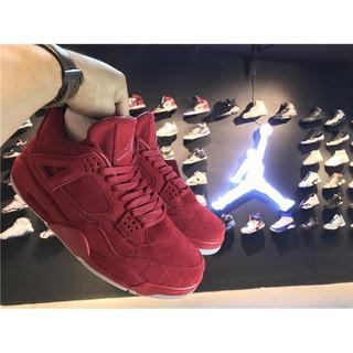 prezzo più basso con codice promozionale qualità affidabile KAWS x NIKE air Jordan 4 Red Suede
