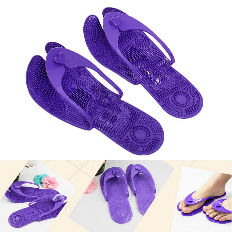 51f0e72556ea Slippers Acupressure Acupuncture Pressure Point Massage Reflexology Shoes KS