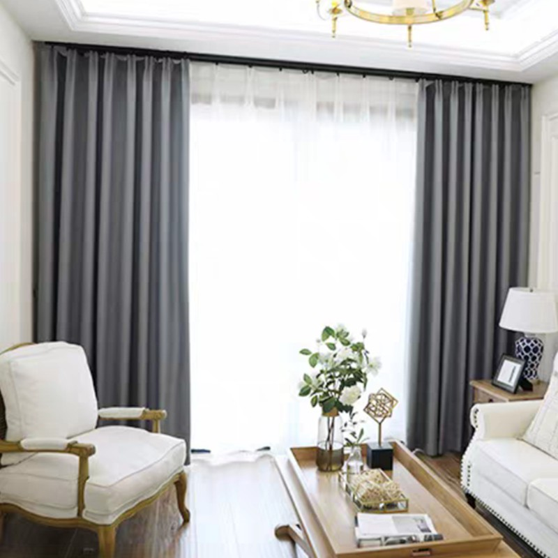 Thick Modern Blackout Curtains For Living Room Door Window Panel