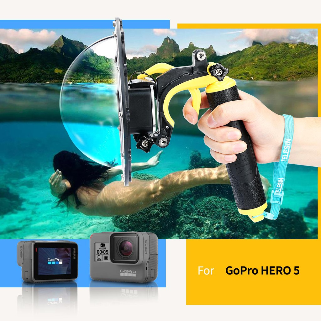Gopro Hero 5 6 Waterproof Clear Acrylic Dome Port Shopee Singapore Underwater Photography For Xiaomi Yi