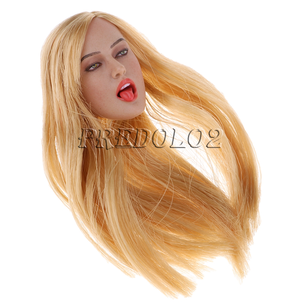 1//6 European Beauty Head Sculpt for Phicen 12/'/' Action Figure Rude Body DIY