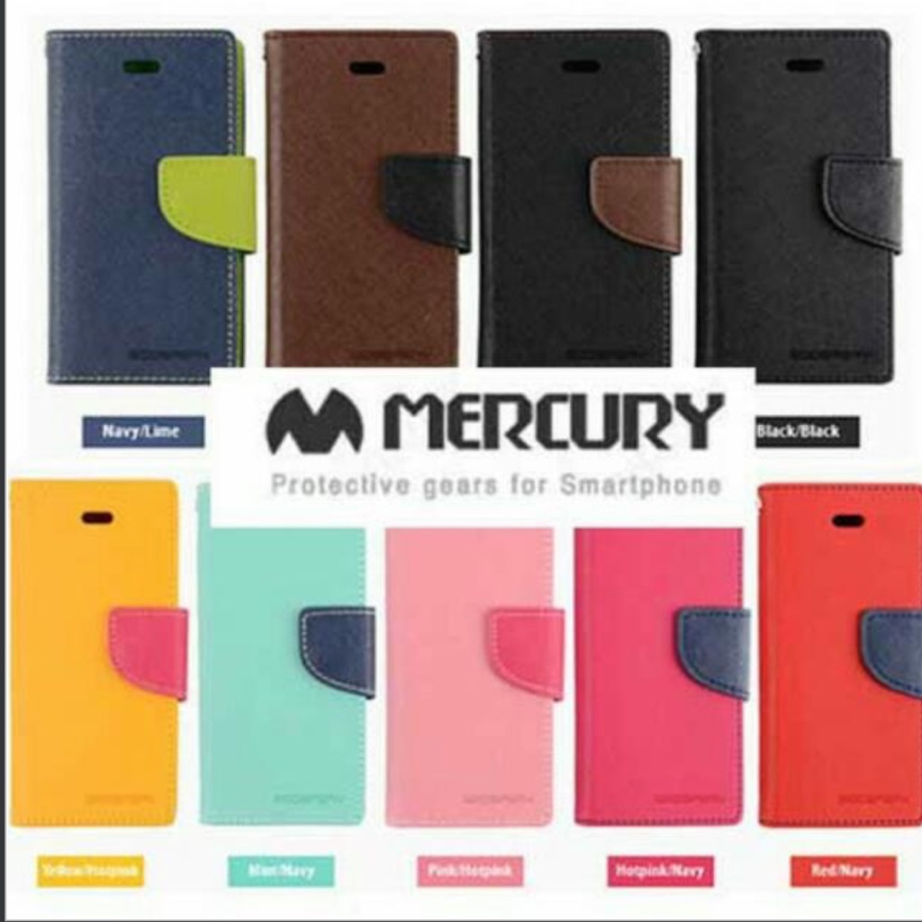 Mercury Goospery Fancy Diary Cases Cover For Iphone Samsung 7 Case Yellow Hotpink Shopee Singapore
