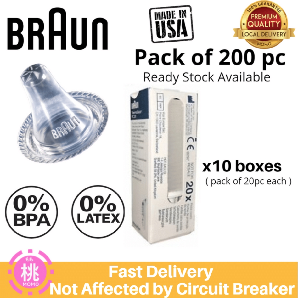 Braun Probe Covers Thermoscan Replacement Lens Ear Filter Caps 1 to 40 Packs