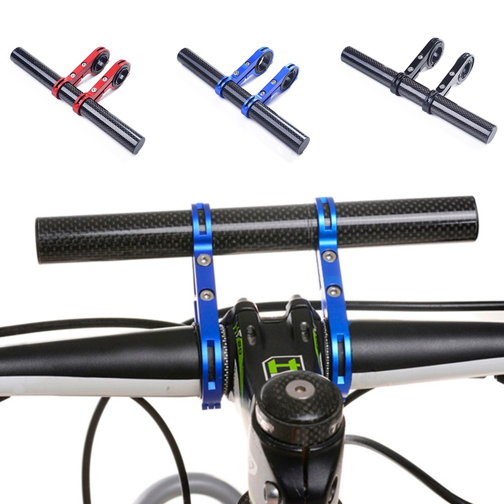 Carbon Fiber Bicycle Bike Handlebar Extender Bracket Mount Phone Holder