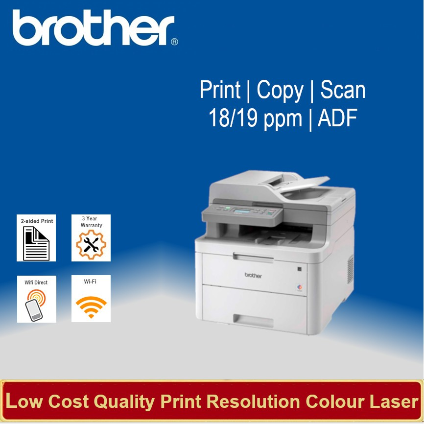 [Local Warranty] Brother DCP-L3551CDW Laser MFP 18ppm