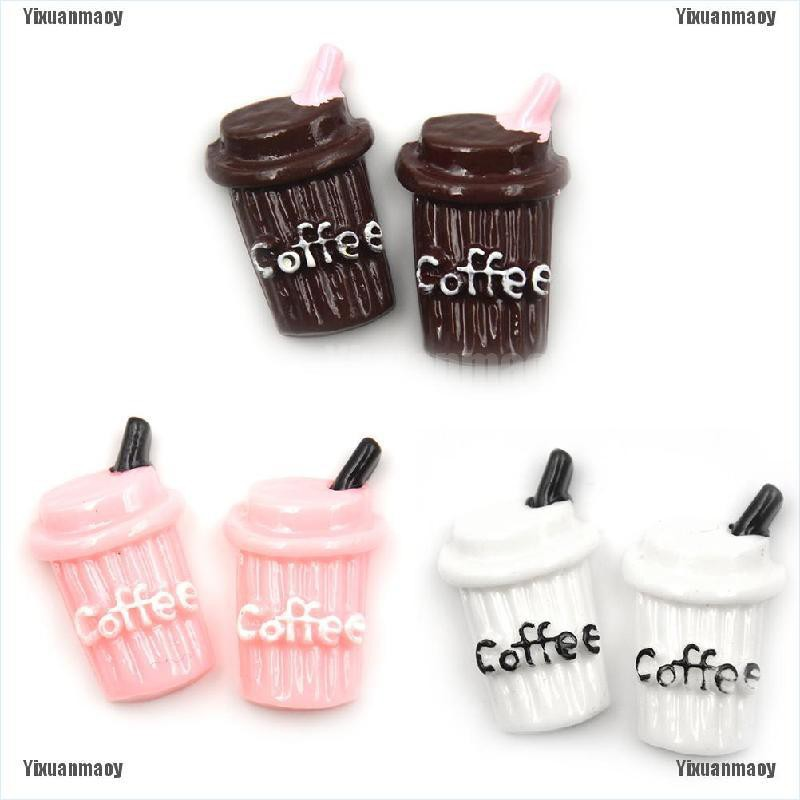 2X Miniature Dollhouse Coffee Cup Kitchen Room Food Drink Decor Mini World S*