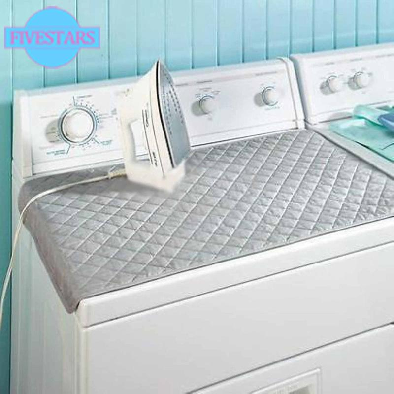 Easy Magnetic Blanket Ironing Mat Laundry Pad Washer Dryer Cover Board Foldable