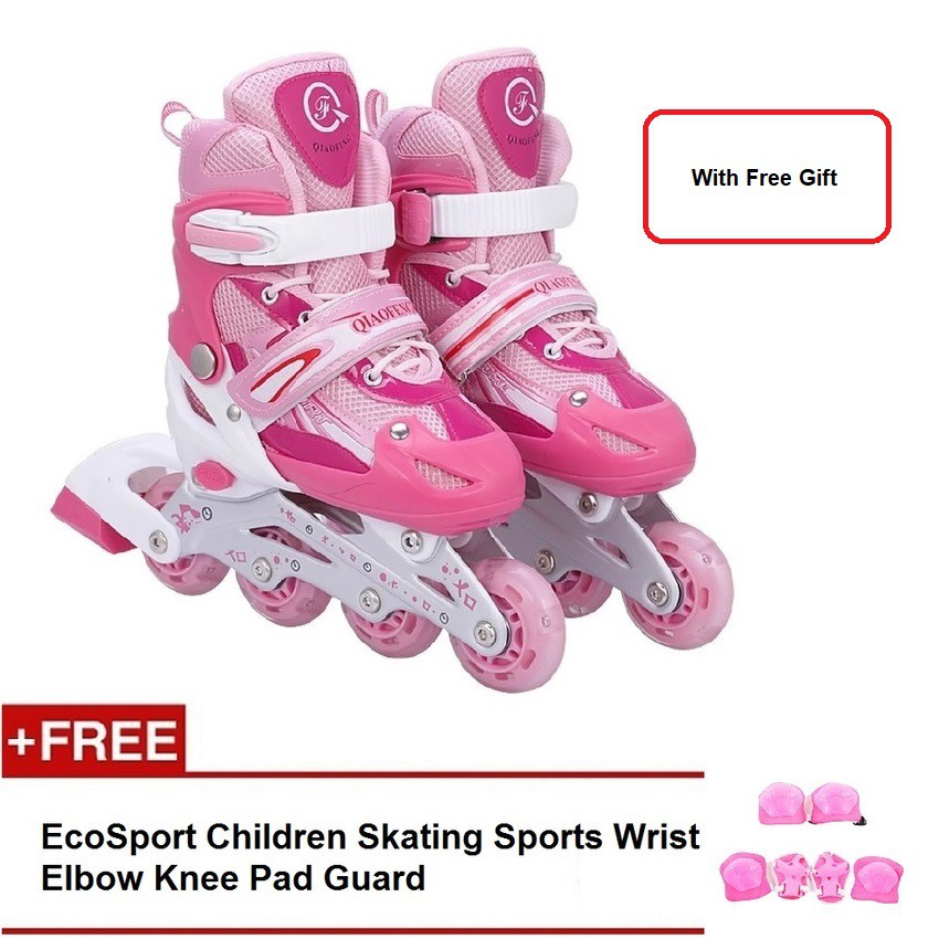 Inline Roller Skates for Kids with Free Helmet /& Knee Pads Set Breathable with LED lights /&Adjustable,Best gifts for children Multi-color are available