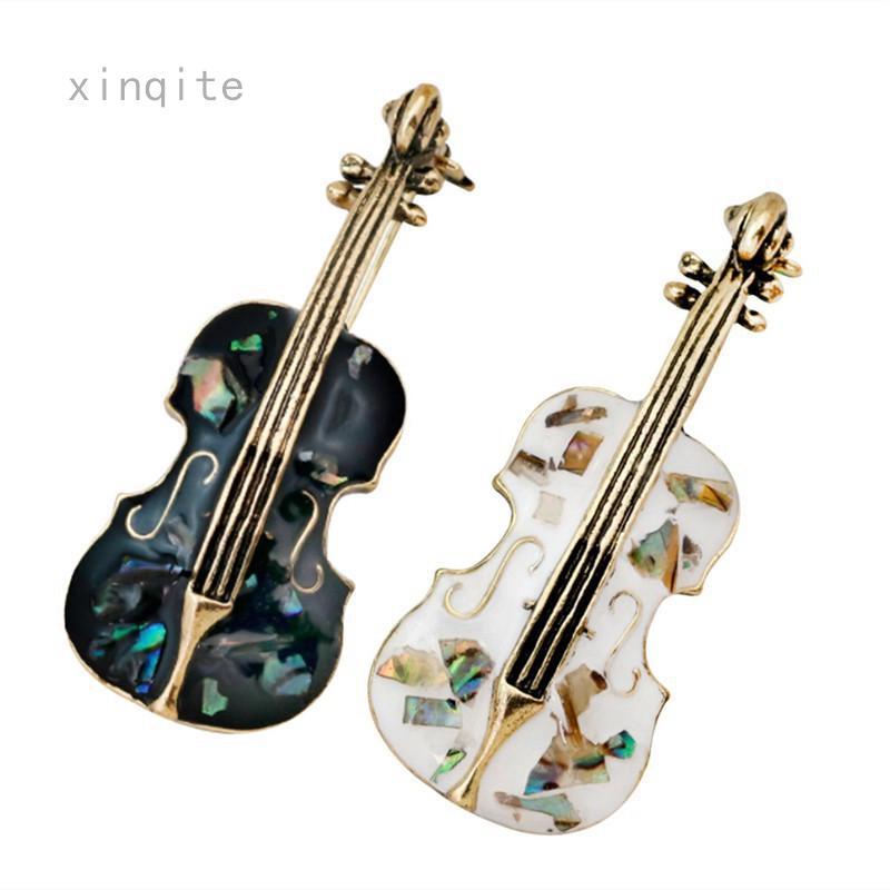 Acoustic Guitar Enamel Pin Brooch Kawaii Anime Musical Instrument Lapel Badge